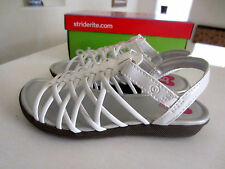 Girls Stride Rite Adaliah sandals strappy Easter shoes white CG55040 Size 10M