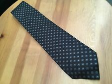 Gianfranco Ferre Mens Tie Black Geometric Pattern 100% Silk Made in Italy OO15