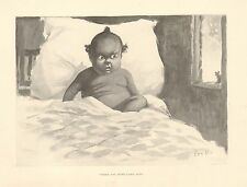 Black Baby, Little Mouse, Where Did You Come From? by Kemble. Vintage 1898 Print