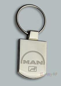 Personalised MAN LORRY TRUCK Design keyring BOXED engraved Free - Metal Key ring