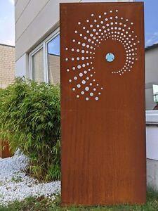 Garten Sichtschutz aus Metall1mm Rost Gartendeko Sichtschutzwand032100 B50H125cm