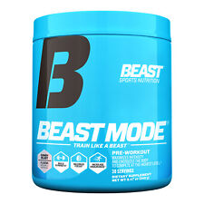 Beast Mode Hardcore Pre Workout Energy Drink Mix Powder 30 srv Best By 4/21