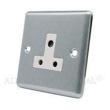SATIN CHROME classica Round Pin 5 Amp Socket-csc5asocwh