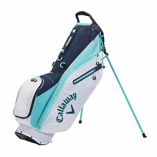Callaway FAIRWAY C Double Strap Stand Golf Bag - White/Blue/Navy - New 2021