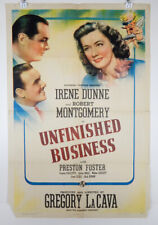 UNFINISHED BUSINESS 1941 ORIGINAL MOVIE POSTER - IRENE DUNNE - ROBERT MONTGOMERY