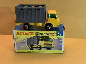 Vintage Matchbox Superfast No. 37 Cattle Truck With Box
