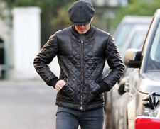 Men's Full Quilted Leather Stylish Jacket - BNWT