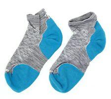 Smartwool Womens PhD Run Light Elite Low Cut Socks in Light Grey/Capri 1703 Sz L