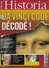 HISTORIA N° 699 / LE DA VINCI CODE DECODE - ELISA BONAPARTE DESPOTE ECLAIREE