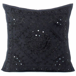 """16/20/24"""" Mirror Embroidered Colorful Decorative Sofa Couch Pillow Cover Case Cu"""