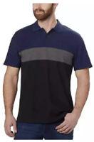 Calvin Klein Lightweight Textured Polo Shirt Black Combo, Size XL, NWT