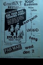 vtg TOXIC REASONS FANG UNDEAD CRUCIFIX 11x17 Punk Flyer poster kbd hardcore