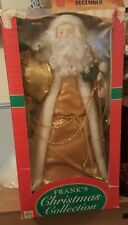 Santa Claus Large Tree Topper or Sit on Floor or Table Gold And White