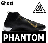"NIKE REACT PHANTOM VISION PRO DF IC ""ACG GHOST"" BLACK GOLD SOCCER AO3276-077 6.5"