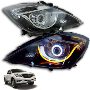 For Mazda BT-50 Bt50 Pro 2016-2020 Head Lamp Light Led Projector Black Genuine