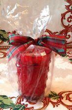 WoodWick Crackles Candle Crimson Berries Christmas Red Glass Package & Bow