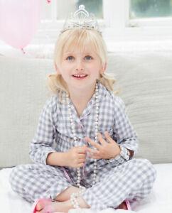 Cyberjammies Pyjama Set Girls Louisa Brushed Check Blue Long Sleeve (2-3yrs)