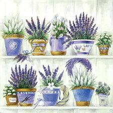 4x Lavender Range Paper Napkins for Decoupage Decopatch