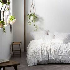 NEW Linen House Somers Bed Cover, White