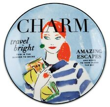 "*NEW* 4 x Kate Spade ""Make Headlines - Travel Bright"" Tidbit Plate (5¾ in) *NWT*"