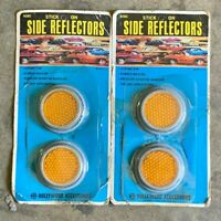 "NOS 2"" Car Or Motorcycle Stick-On Side Reflectors In Amber or Red #928C - 2 Pack"