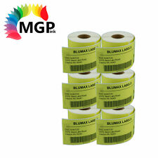 6 Compatible for Dymo/Seiko 99014 Yellow Label 54mm x 101mm Labelwriter450 Turbo