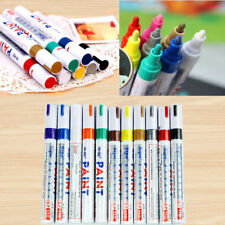 New 12 Colors Sets Waterproof Fine Paint Markers Pens Oil Based Art Glass Metals
