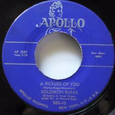 SOLOMON BURKE 45 A picture of you/You can run but you cant APOLLO pop R&B  Ws406