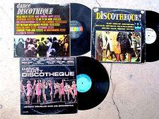 DANCE DISCOTHEQUE 3-LP LOT: Pony Mods Watusi Jerk Ska Latin Popeye Twist Monkey