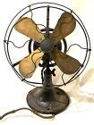 Vintage General Electric Whiz Oscillating Fan D97417 Brass Blades Unrestored