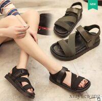 Ladies Open Toe Flats Roman Shoes Sports Sandals Buckle Slingback Casual Shoes