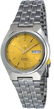 Seiko 5 SNK303 Men's Stainless Steel Gold Dial Day Date Automatic Watch