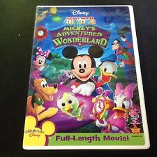 Disney MICKEY MOUSE CLUBHOUSE Mickey's Adventures in Wonderland DVD