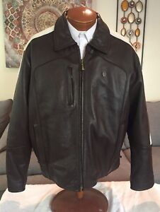 NEW Premium Flava Select Phat Farm Brown Leather Motorcycle Jacket Mens 3X