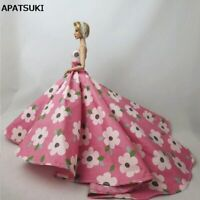 Pink Flower Floral Wedding Party Dresses Outfits Clothes for Barbie Doll Clothes