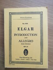 Noten. Elgar. Introduction and Allegro for Strings op. 47. Taschenpartitur.