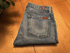 WOMENS SEVEN 7 FOR ALL MANKIND THE RELAXED SKINNY USA JEANS 27 X 28 VERY NICE