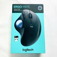 Logitech Ergo M575 Wireless Trackball Mouse Graphite Black EUC - Barely Used