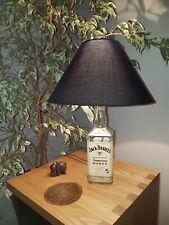 Jack Daniels & Honey Glass Bottle - Upcycled Lamp with lampshade FREE HONEY BEE