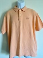 Izod Silk Wash  Polo Short Sleeve  T-Shirt   100% Cotton Sz L, Orange