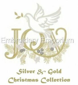 SILVER & GOLD CHRISTMAS COLLECTION - MACHINE EMBROIDERY DESIGNS ON CD OR USB