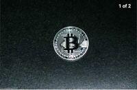 Silver Bitcoin Coin (Collectible Medallion) 1oz.