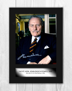 Enoch Powell A4 reproduction autograph photograph poster with choice of frame