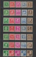 US,859-893,1940 FAMOUS AMERICANS,MNH VF-XF, COLLECTION MINT NH,OG