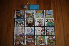 Nintendo DSi, Blue, With Charger, & 16 Games, Super
