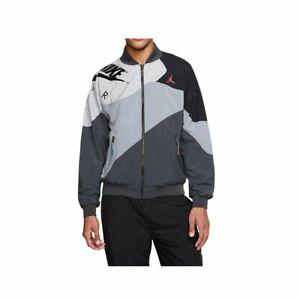 Nike Men's Air Jordan LEGACY AJ RETRO 4 Light Weight Jacket Grey CQ8307-070 d