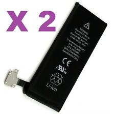 Lot of 2 New 1430mAh Internal Replacement Li-ion Battery For iPhone 4S GSM CDMA