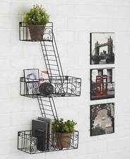 Fire Escape Wall Shelves Ladder Modern Home Wall Decor Photo Display Steel Shelf