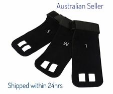 GYMNASTICS GYM GRIPS - black Cross fit Weightlifting grips large faux Leather