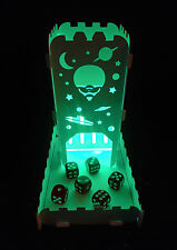 Dice Tower Alien UFO With Tray and light up Tea Light - Role Playing Games
